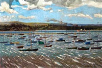 breezy day, poole harbor by edward d'arcy lister