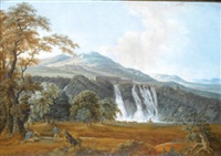 in the campagna near rome (+ 2 others; 3 works) by friedrich rauscher