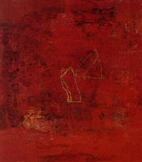 red painting, 1 by ricardo mazal