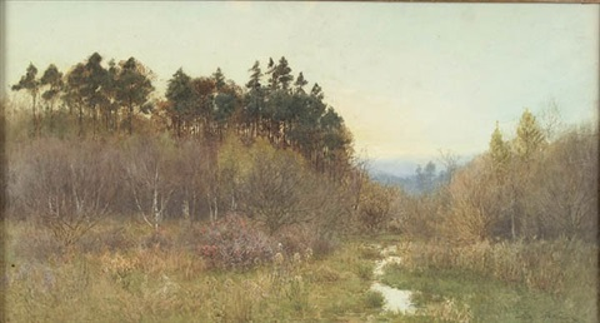 meadow twilight by fritz b althaus