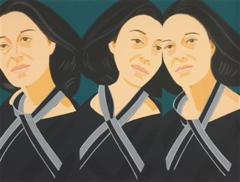 gray ribbon from alex and ada the 1960s to the 1980s by alex katz