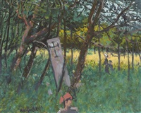 the cross in the woods, kilmurvey, aran by maurice macgonigal