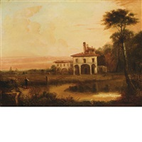 italian villa by alfred jacob miller
