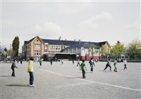 schoolyard, vancouver - spring by jeff wall