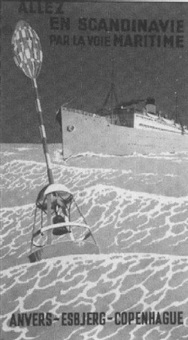 allez en scandinavie par la voie maritime. anvers, esbjerg, copenhague by martin allerup