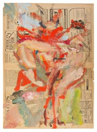 untitled (village voice) by willem de kooning