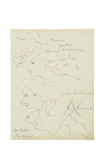 portraits by jean cocteau and paul eluard