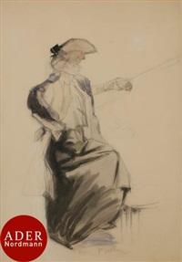 8e98eb833c53 Élégante assise en chapeau, 1902, 1902. Jacques Villon. Élégante assise ...