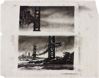 two views of heaven/the bridge sc#110 by robert longo