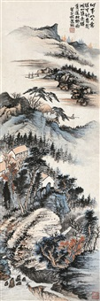 山水 镜心 设色纸本 by xiao xun