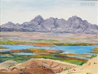 from near havasu city, arizona, towards california by henry curtis ahl