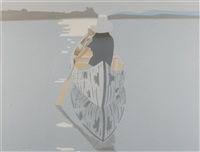 good afternoon ii (gray rowboat) by alex katz