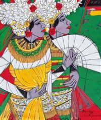 penari arja - drama bali (arja dancer - balinese drama) by krijono