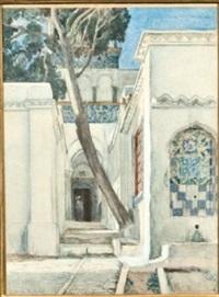 intérieur d'un palais oriental by abel orry
