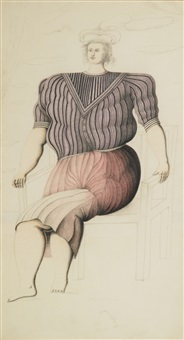 donna seduta by roberto aizenberg