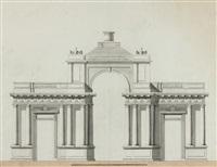 projet d'un arc de triomphe en mémoire de la reprise de la ville de toulon by antonin montaudoin