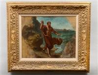 demosthenes haranguing the waves by eugène delacroix