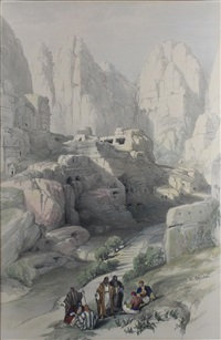 the ravine, petra by david roberts