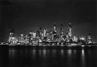 untitled (manhattan at night), 1941 by andreas feininger