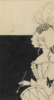 a female drummer by aubrey vincent beardsley