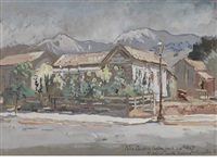 north corner of santa barbara and carillo streets by colin campbell cooper