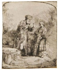 abraham and isaac by rembrandt van rijn