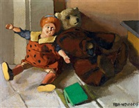 still-life with child's play by vilmos aba-novák