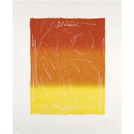 figure 6 (from color numerals series) by jasper johns