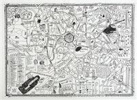 map of sculpture project in münster by david shrigley