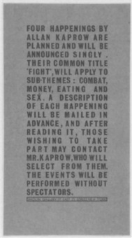 four happenings by allan kaprow