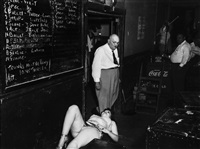 call board, 1950 by weegee