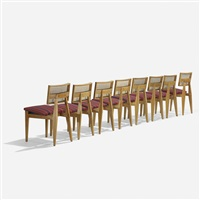 dining chairs model 4669, set of eight by george nelson & associates