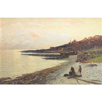 the village of corrie-arran, evening by john miller