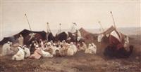 assemblée de caïds la veille d'un mariage by auguste bouchet