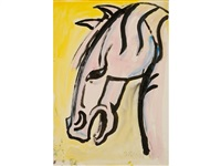 a study of a horses head by sven berlin