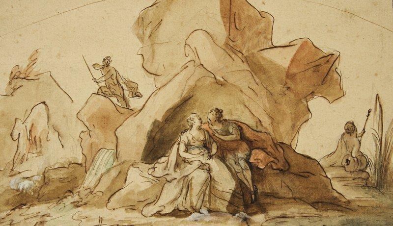 scène mythologique (acis and galathée?) by noël nicolas coypel