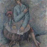 seated figure by pavlos samios