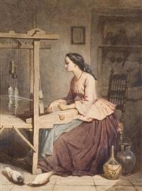 jeune fille de sienne by théodore valerio