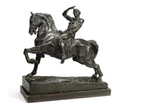 a bronze equestrian reduction of 'physical energy' by george frederick watts