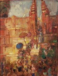 tempel offerings by raden basoeki abdullah