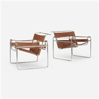 wassily lounge chairs (pair) by marcel breuer