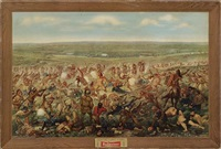 custer's last fight - budweiser by f. otto becker
