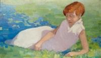 portrait de sa fille raya by frederic fiebig