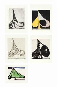 five spades (set of 5) by richard diebenkorn