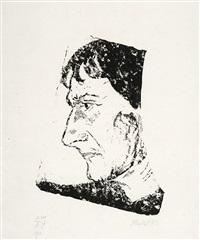 porträt otto mueller by erich heckel