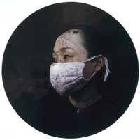 white gauze mask no.3 by fan mingzheng