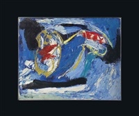cavalier bleu (blue rider) by karel appel