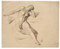 nude, looking upwards by bonaventura genelli