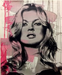 kate moss (pink) by mr. brainwash