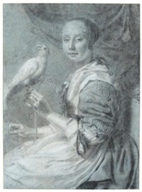 a lady with a parrot by pieter cornelisz van slingeland